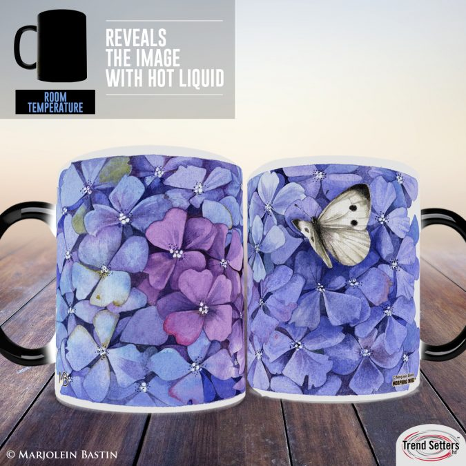 Hydrangea Heat Changing Mugs
