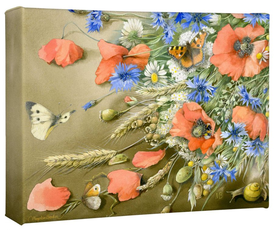 """A Wealth of Field Flowers 12"""" x 9"""" Gallery Wrapped Canvas"""