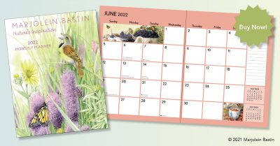Available now, 2022 Marjolein Bastin Large Monthly Planner
