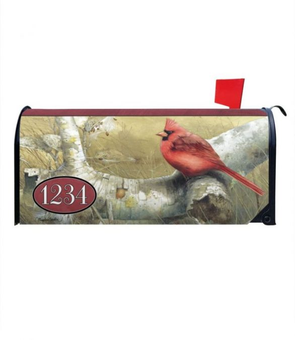 Cardinal in the Fall Personalized Mailbox